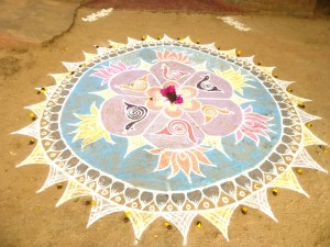 Village India kolam blm