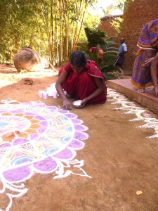 Village India kumutha kolam 3