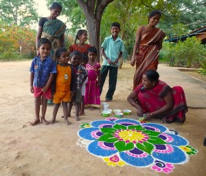 Village India kumutha kolam 6