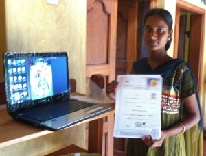 Tamil village daughter and laptop