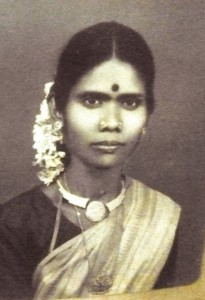 Tamil village grandmother as a young woman