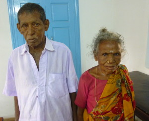 Suruli's dad and mom in clinic
