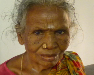 Suruli's mother close-up