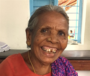 Suruli's mother with smile